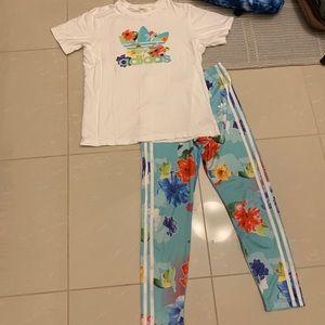 Kids Adidas 2 piece outfit sz 12